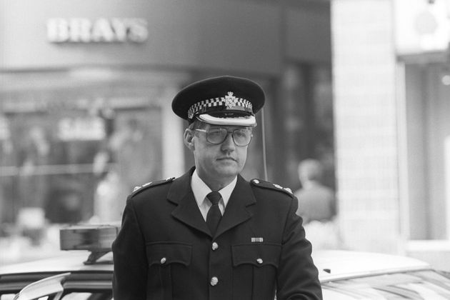 Chief Supt David Duckenfield preparing to face the Hillsborough disaster inquiry in