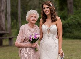 89-Year-Old Steals The Show As A Bridesmaid At Granddaughter's Wedding
