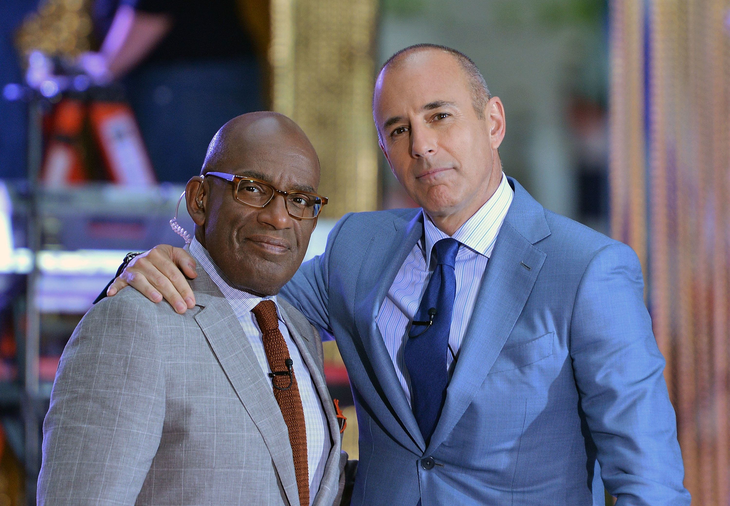 NEW YORK, NY - MAY 16:  Today co-anchors Al Roker (L) and Matt Lauer at NBC's 'Today' at Rockefeller Center on May 16, 2014 in New York City.  (Photo by Slaven Vlasic/Getty Images)