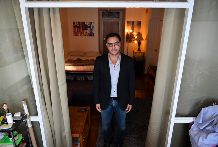 Amr Arafa is photographed at his apartment on Aug. 10.