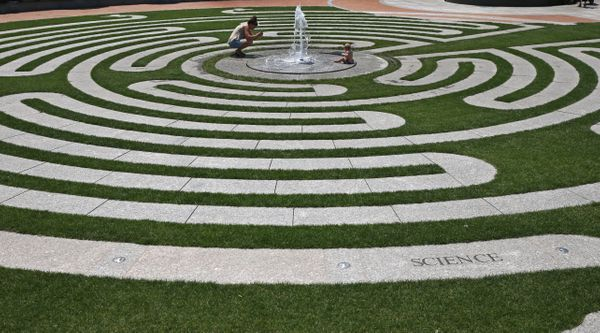 The Labyrinth at Armenian Heritage Park is part ofthe Rose Kennedy Greenway in Boston. The park commemorates the immigr