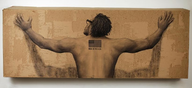MADE IN THE USA, 2015<br>3' X 7'