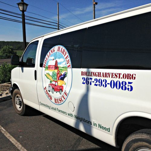 Rolling Harvest Food Rescue van (donated by the Robert Wood Johnson Foundation)