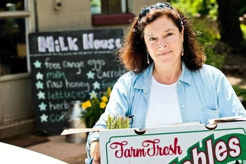 Cathy Snyder at Milk House Farm Market, Newtown, PA