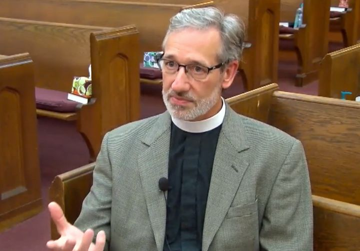 Rev. Nathan King hopes holding Racists Anonymous meetings in his church will help to ease racial tensions in Concord, North C