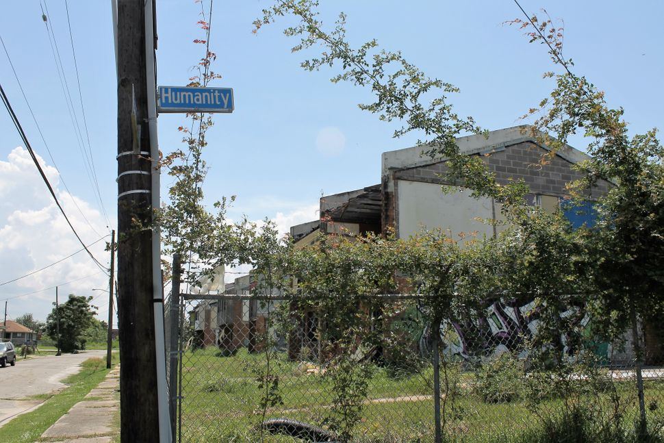 Years before Hurricane Katrina was even a blip on the radar, residents learned that a portion of Press Park was built, unbekn