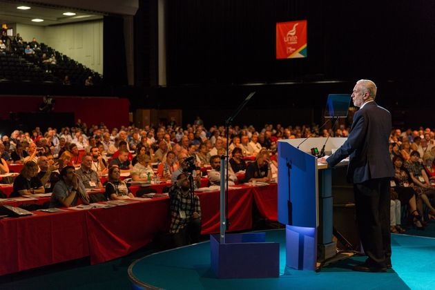 The Labour leader speaks at the party conference in Brighton in