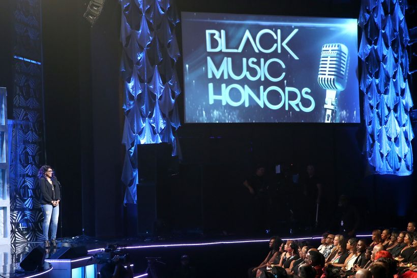Monie Love speaks during the NMAAM 2016 Black Music Honors on August 18, 2016 in Nashville, Tennessee. (Photo by Terry Wyatt/