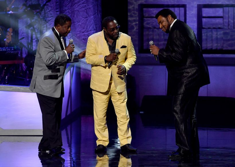 Gerald Alston, Eddie Levert, and Dennis Edwards perform during the NMAAM 2016 Black Music Honors on August 18, 2016 in Nashvi