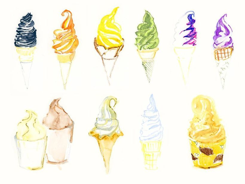 Endless flavors of soft cream.