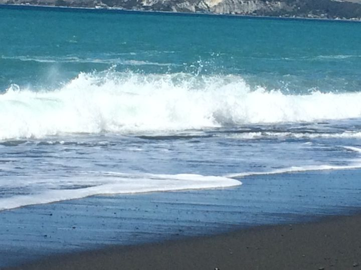 <p><em>Black Sand Beach, Kaikoura</em></p>