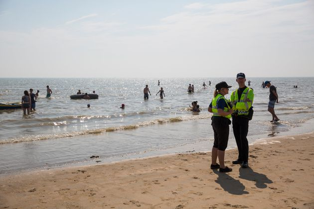 A search is underway at Camber Sands for a missing woman days after five men died at the East Sussex...