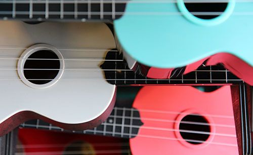 <i>Photo by Nancy A. Ruhling</i><br><strong>A songfest of ukes.</strong>