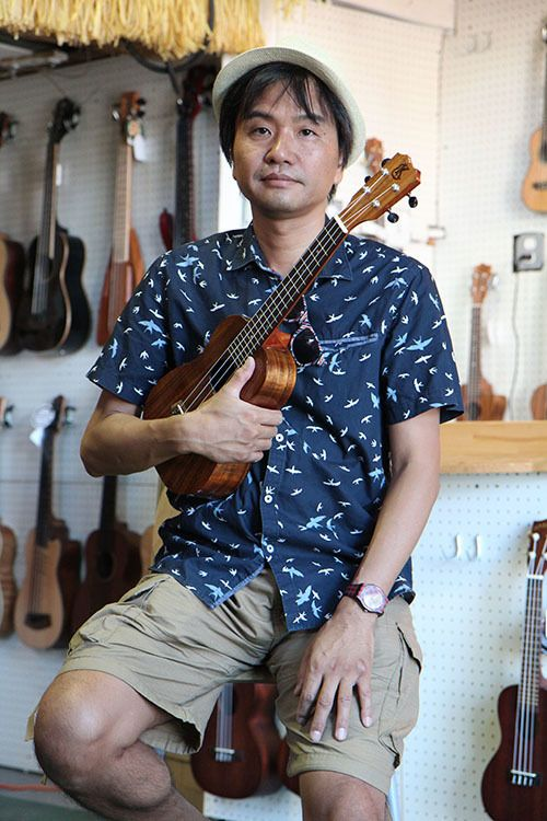 <i>Photo by Nancy A. Ruhling<br></i><strong>Masafumi can teach you the ABCs of the ukulele in an hour.</strong>