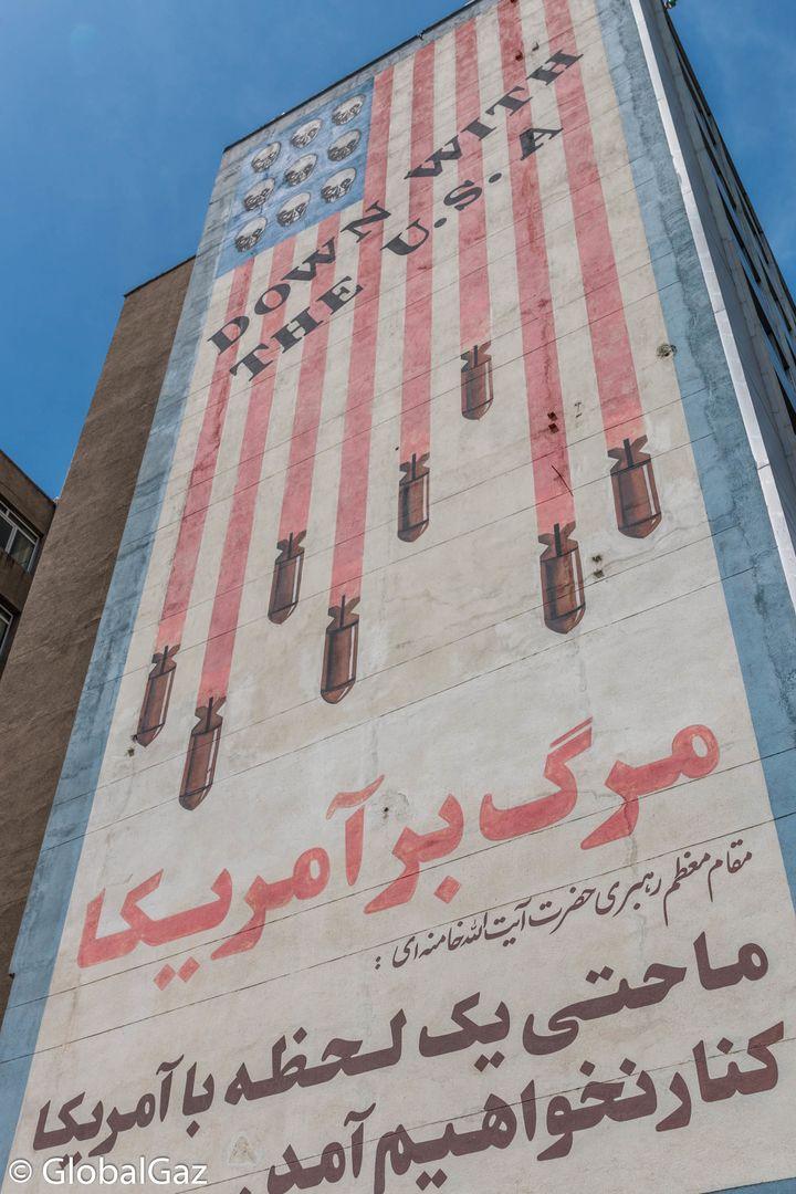 Anti-American propaganda that one will confront on a random street corner.