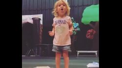 Toddler's Passionate Rendition Of Her ABCs Is The Best Thing On The Internet Right