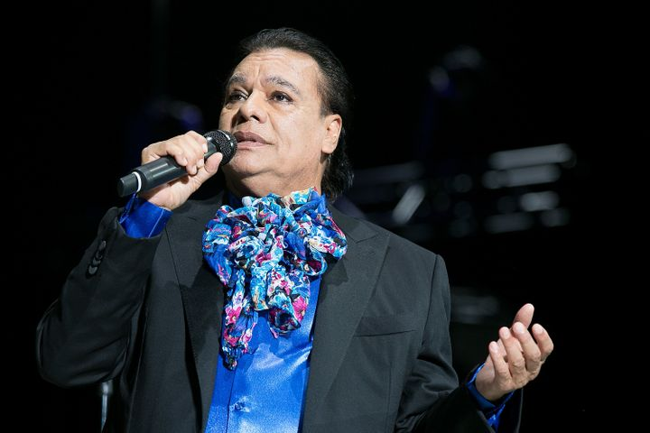 Juan Gabriel at one of his final concerts at The Forum on Aug. 26.
