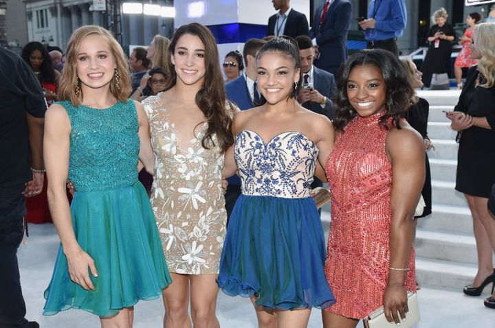 From left to right: Madison Kocian, Aly Raisman, Laurie Hernandez and Simone Biles.