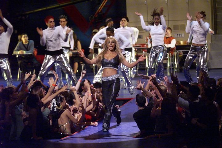 Britney Spears performs during the 1999 MTV Music Video Awards held at the Metropolitan Opera House, Lincoln Center in New Yo
