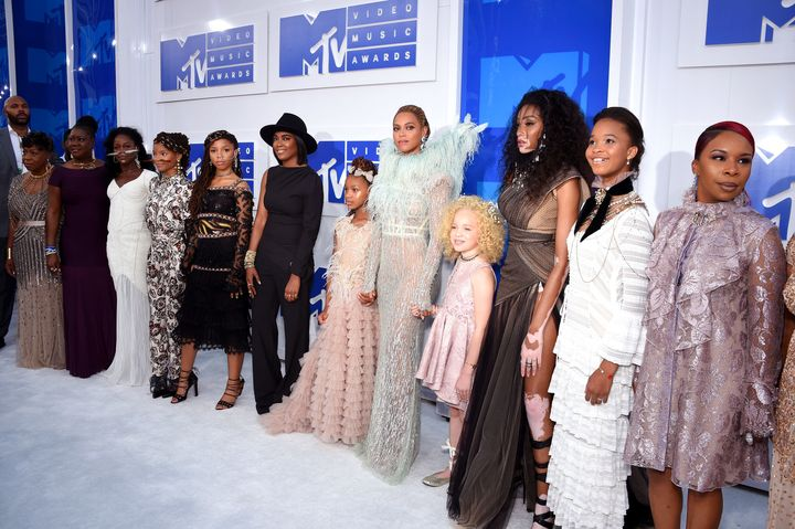 Beyonce Knowles and guests attend the 2016 MTV Video Music Awards at Madison Square Garden on August 28, 2016 in New York Cit