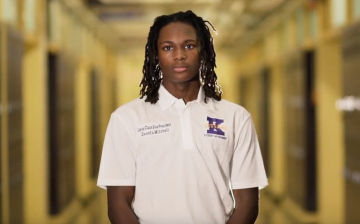 Deonta Mitchell is a 16-year-old student who said he wants to be an actor when he grows up.