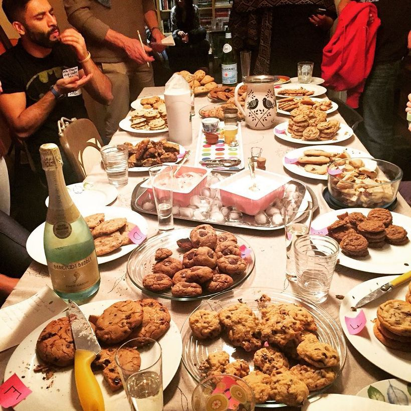 A #cookielife party featuring cookies sent from around the world. This is how networking should be done.