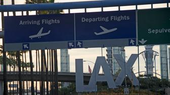 LAX sign before airport