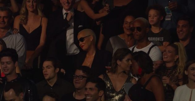 Amber Rose in the crowd at the