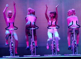 Ariana Grande Pulls Off Impressive Bike Choreo In VMAs Performance