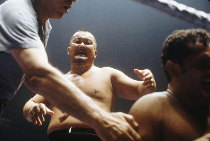 Mr. Fuji wrestling in an undated file photo.