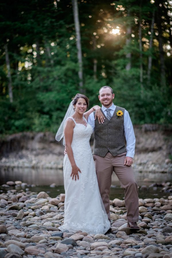 """""""Mallory and George, who live in Colorado, got married in Bethel, Maine."""" --<i>Christophe Z</i>"""