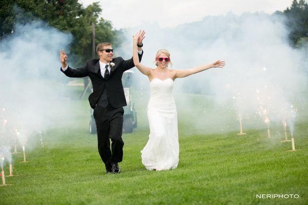 """Dan and Taylor had a joyous wedding day at Klinger Lake Country Club in Sturgis, Michigan!"" --<i>Neringa ""Neri"" Ridges"