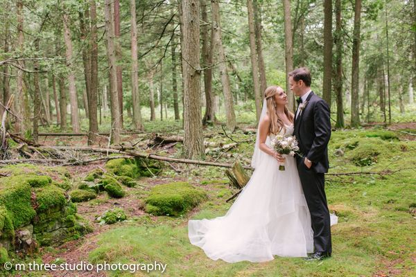 """""""Kyle and Michelle married at Gordon Lodge in Bailey's Harbor, Wisonsin on August 26."""" --<i>Molly Michel</i"""