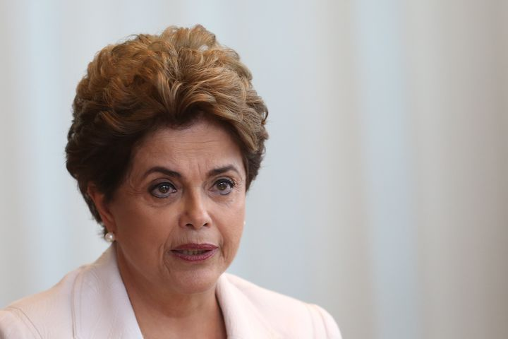 Brazil's suspended President Dilma Rousseff reads a letter to the country in Alvorada Palace in Brasilia, Brazil, August 16,