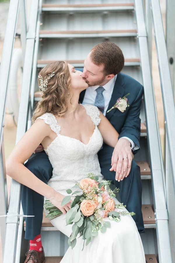 """""""We loved Amber and Nathan's intimate wedding along Norris Lake in Laffollette, Tennessee."""" --<i>Jason """"Juicebeats"""" Mes"""