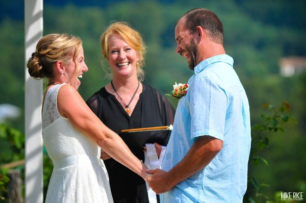 """""""Paul and Ginger had a beautiful mountain top wedding at the Fontaine Vineyard in Leicester, North Carolina."""" -- <i>Mike Rice"""
