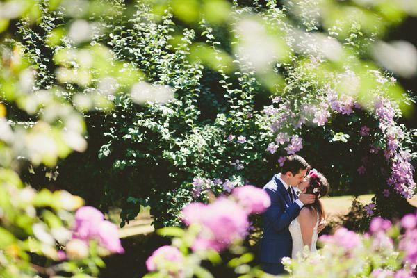 """Ash and Chris said 'I Do' in such a beautiful garden."" --<i>Bri McDaniel</i>"