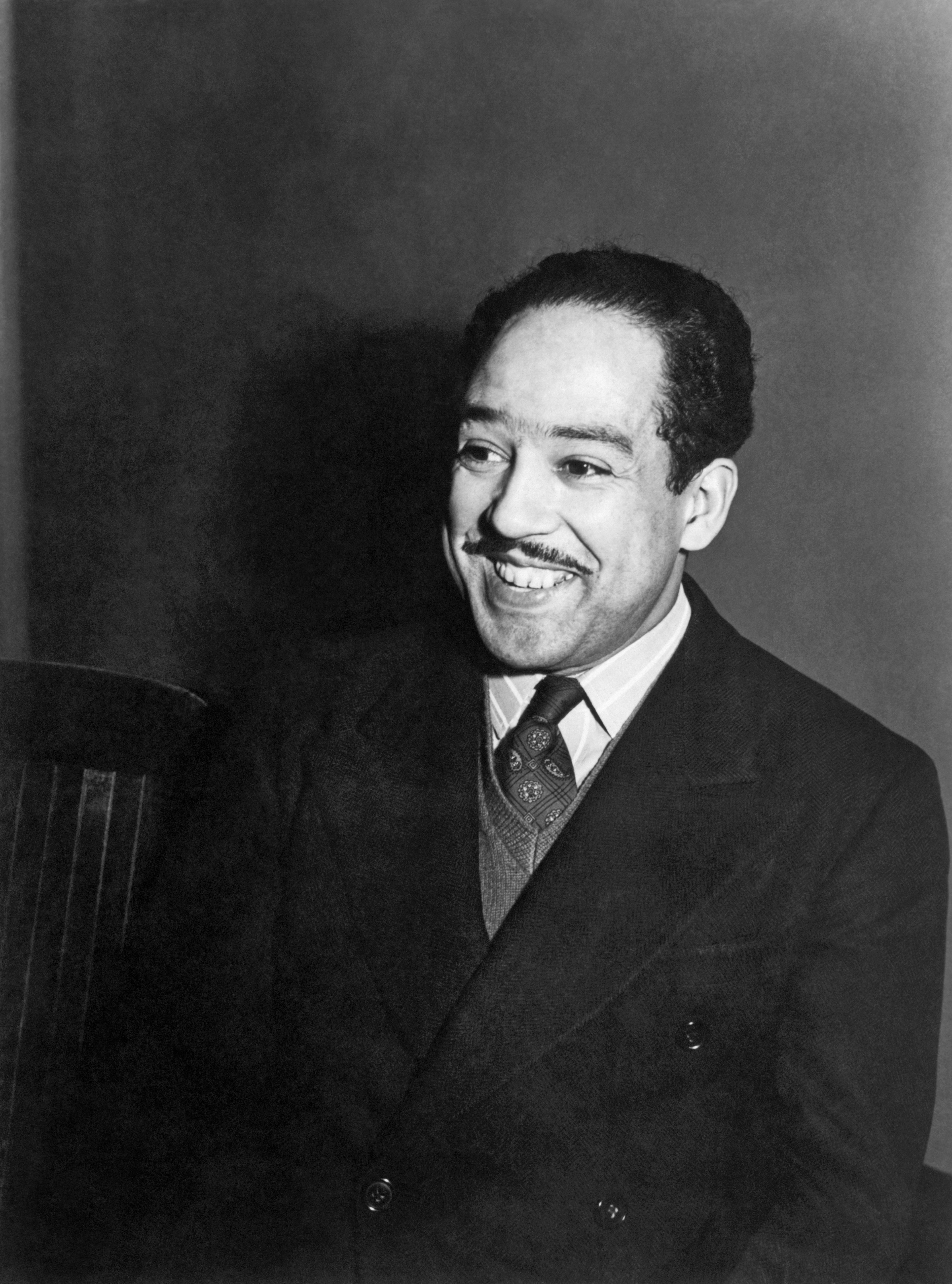A portrait of poet and playwright Langston Hughes, Chicago, Illinois, April 1942. (Photo by Jack Delano/Underwood Archives/Getty Images)