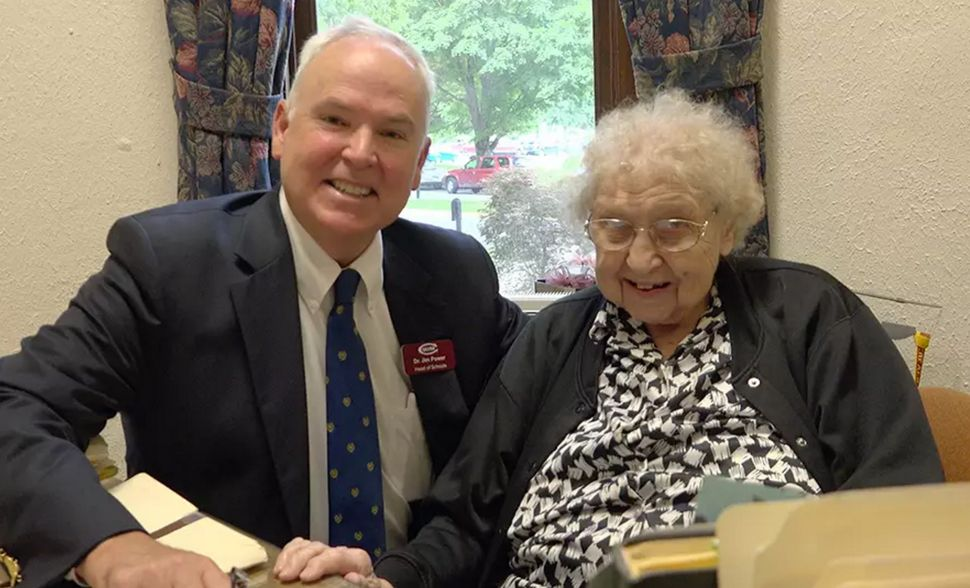Elisabeth Davis, 99, has been working at Culver Academies in Culver, Indiana, since 1936. She is secretary in the head o