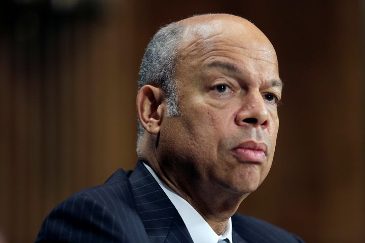 Homeland Security Secretary Jeh Johnson testifies before a Senate Judiciary Committee hearing. On Aug. 29, 2016, he ordered a