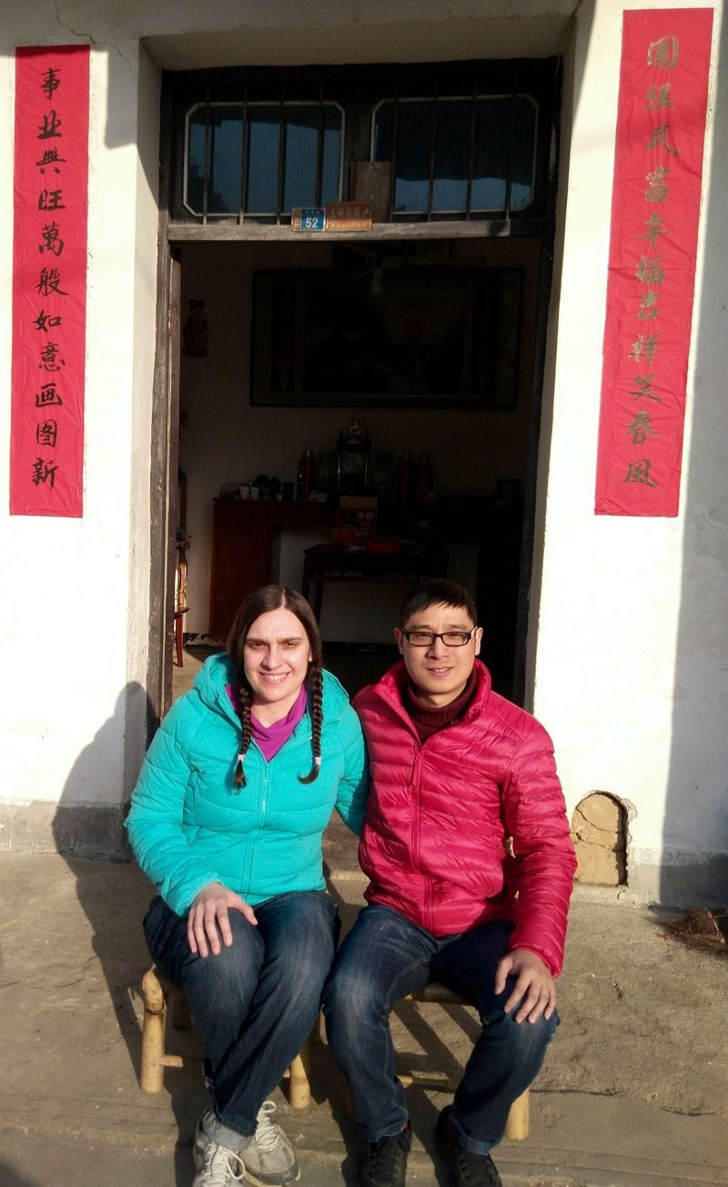 Spending Chinese New Year in China with my husband Jun Yu.