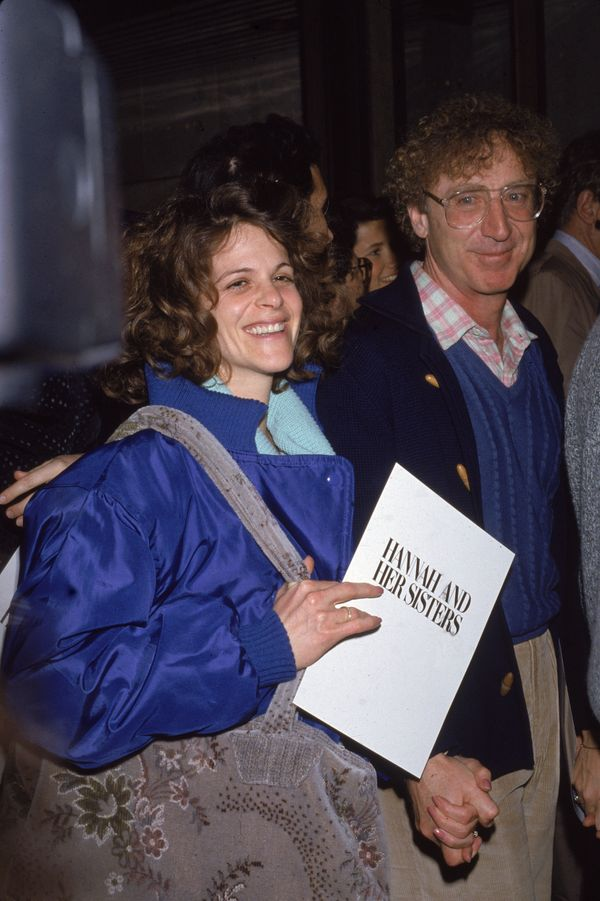 """American actor Gene Wilder and his wife Gilda Radner (1946 - 1989) attend the premiere of the film, """"Hannah And Her Sisters,"""""""