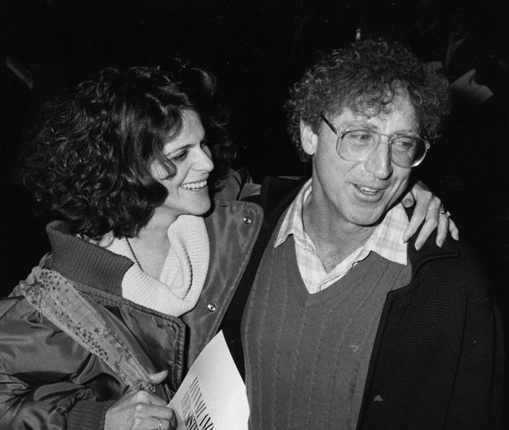 """Gene Wilder and Gilda Radner attending the premiere of the film """"Hannah and her Sisters."""""""