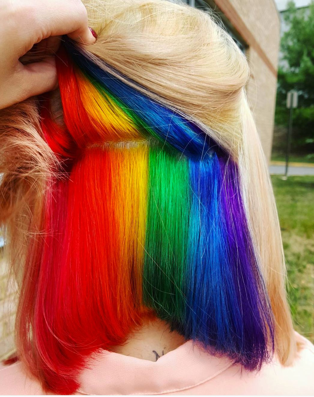 Hidden Rainbow Hair Is A Trend You Won T See Coming Huffpost Life