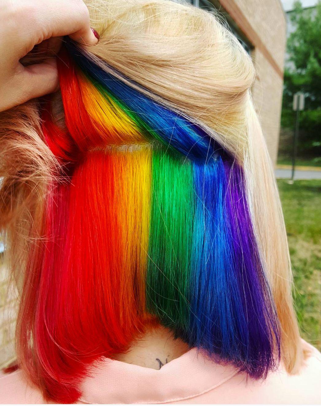 'Hidden Rainbow' Hair Is A Trend You Won't See