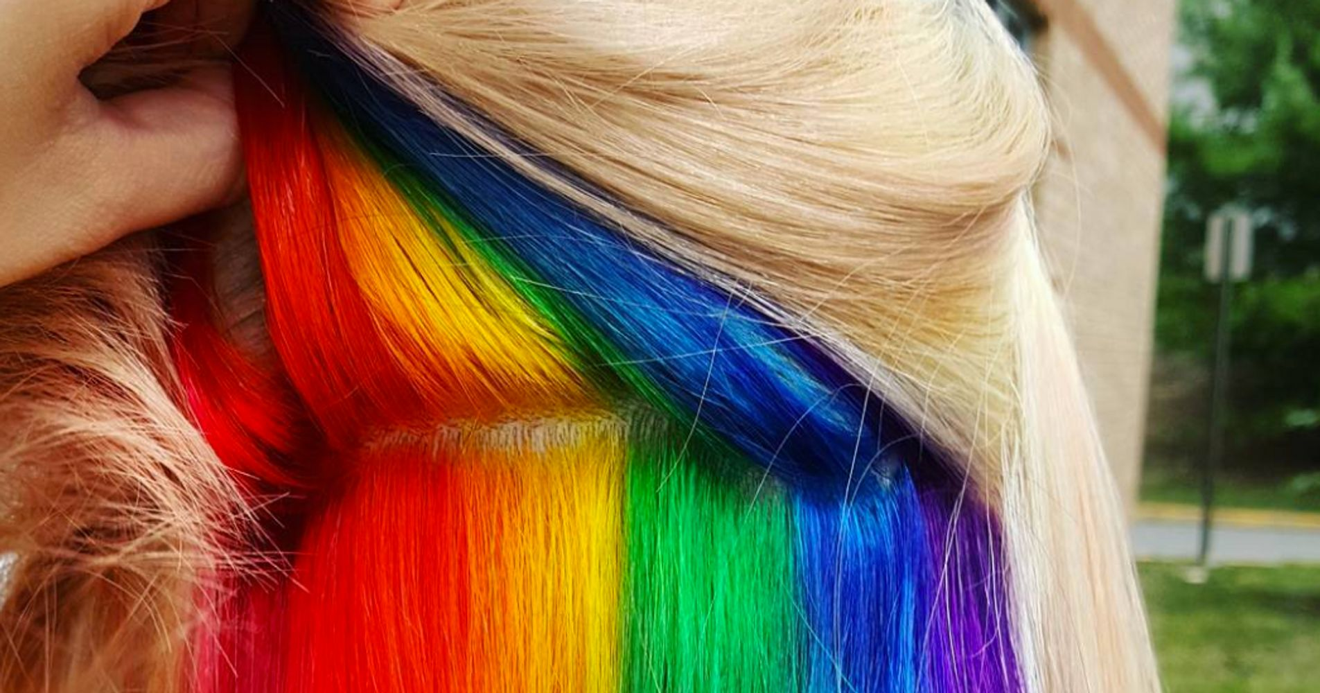 Hidden Rainbow Hair Is A Trend You Wont See Coming Huffpost