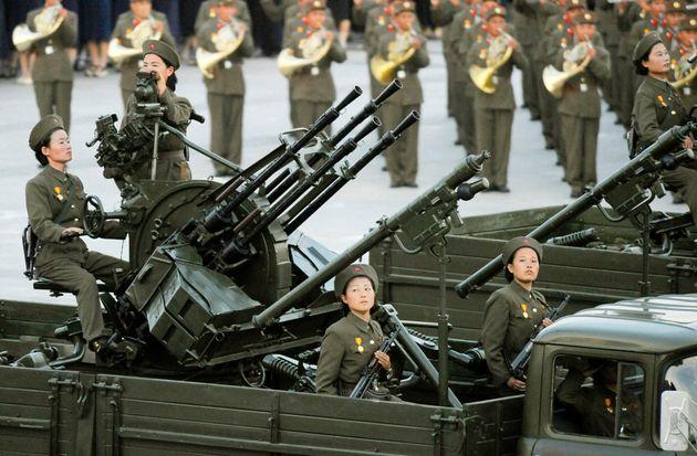 A North Korean anti-aircraft