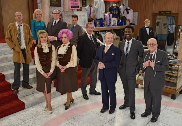 The cast of  the 'Are You Being Served?'
