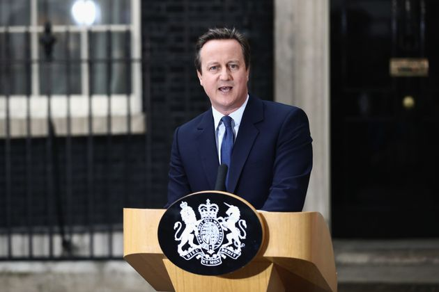 David Cameron speaks before leaving Downing Street for the last time on July 13. No10 advisers were...