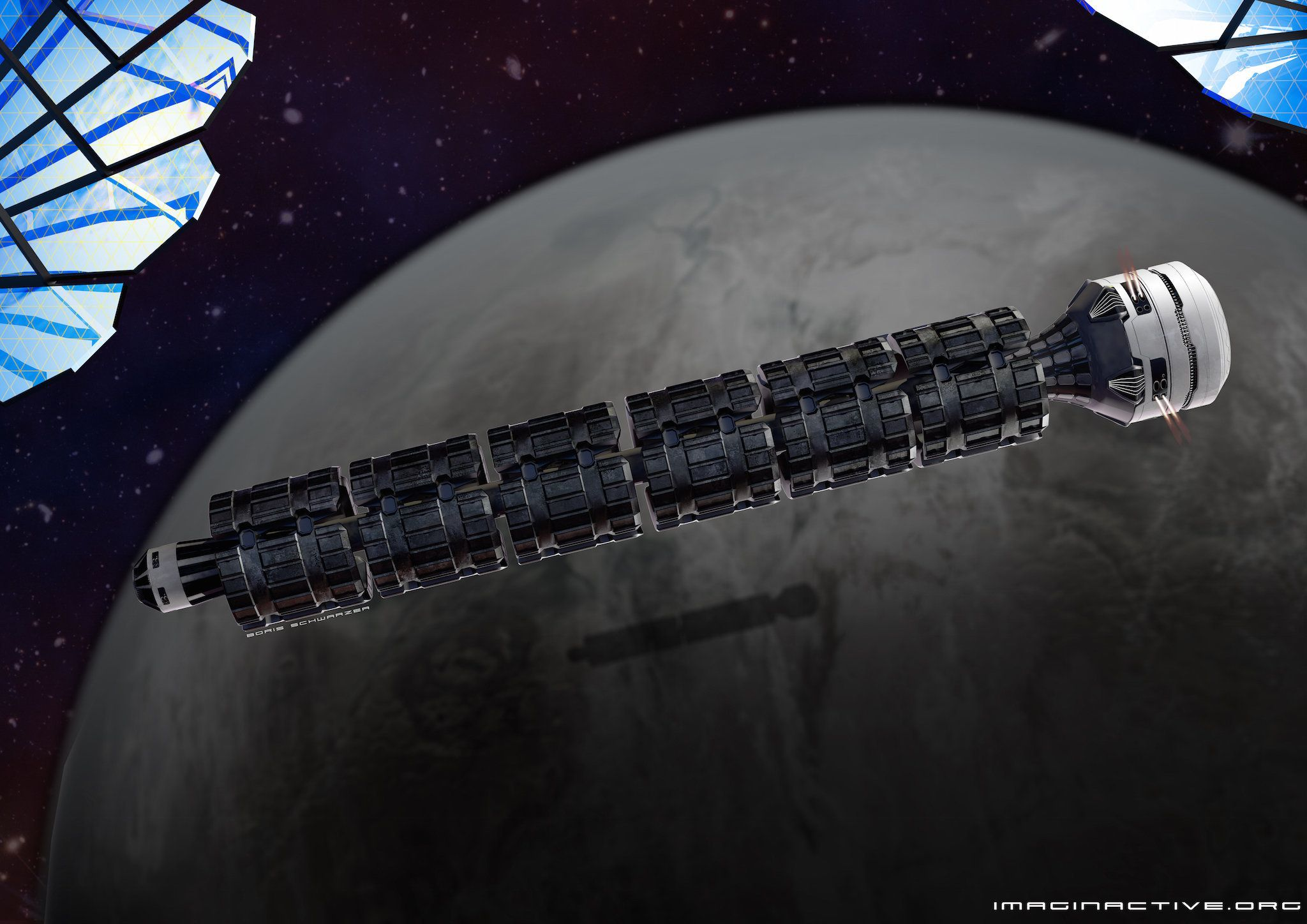 This 'Space Train' Could Transport Humans Around Our Solar